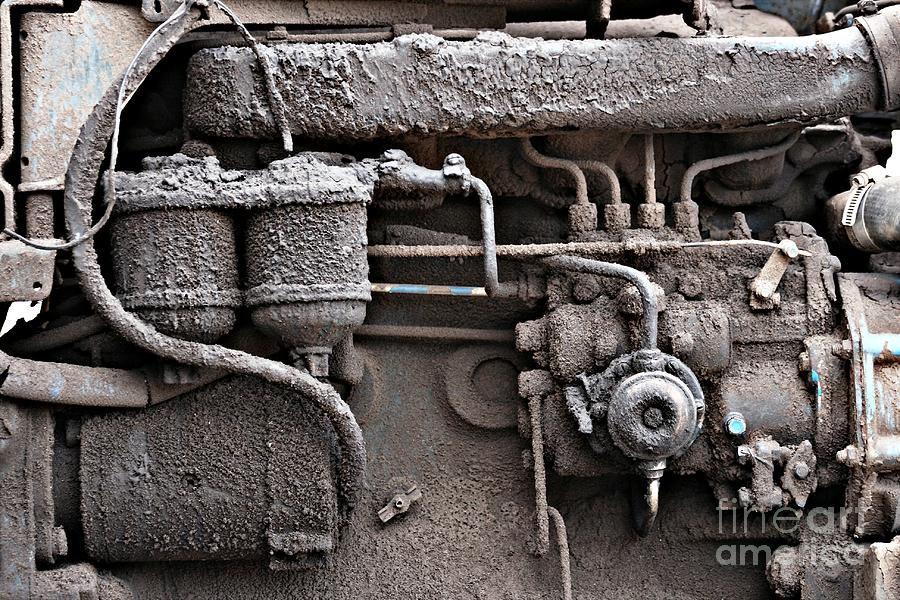 Black Photograph - Tractor Engine II by Stephen Mitchell