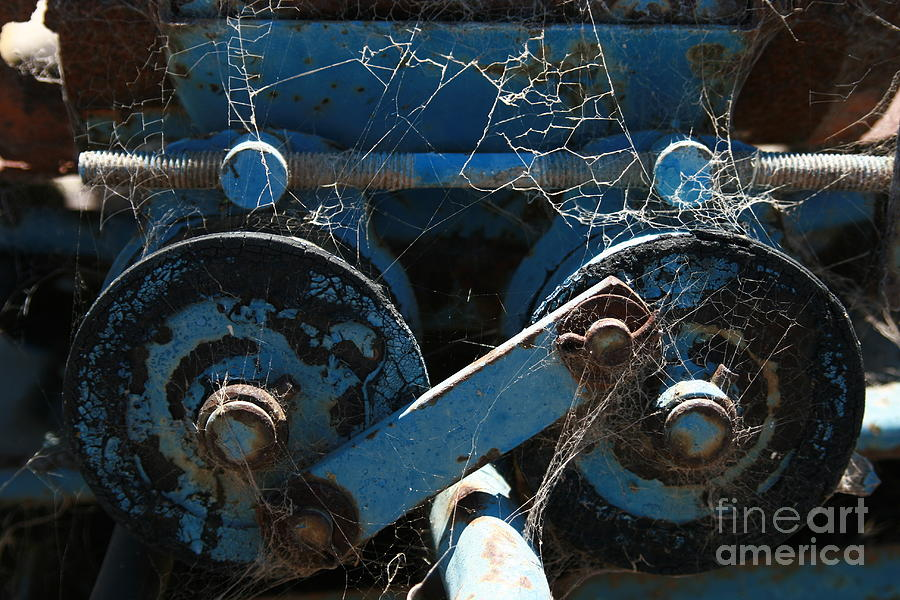 Blue Photograph - Tractor Engine IIi by Stephen Mitchell