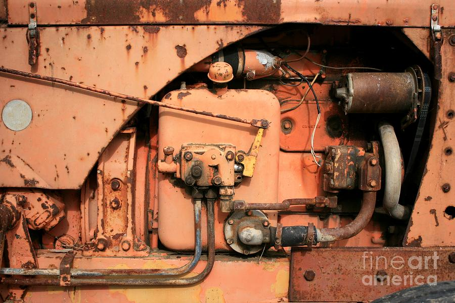 Tractor Photograph - Tractor Engine V by Stephen Mitchell