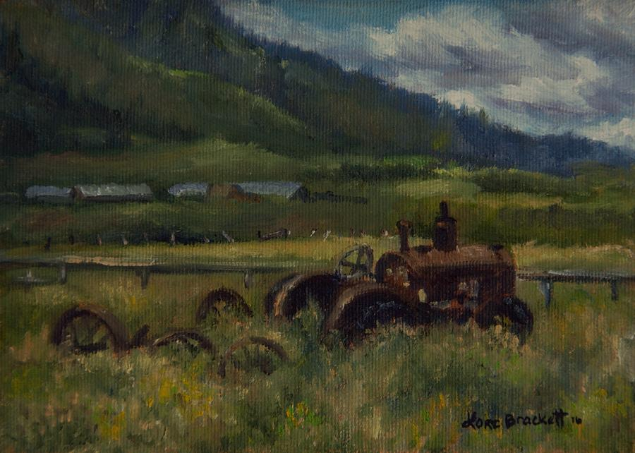 Tractor From Swan Valley by Lori Brackett