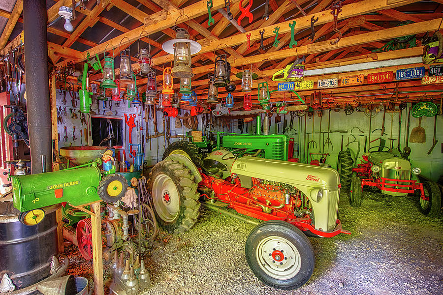 Garages For Tractors : Tractor garage photograph by paul freidlund