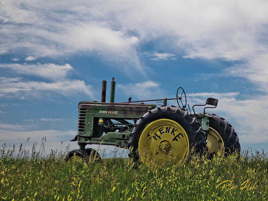 Tractor In Field Photograph