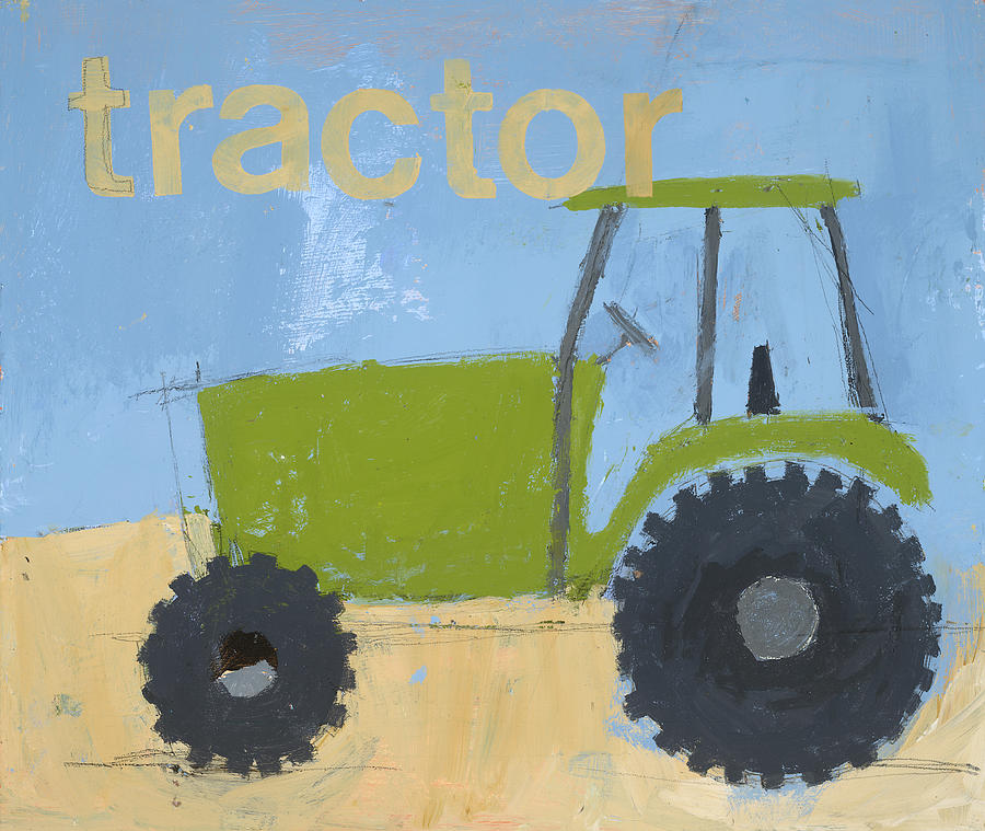 Tractor Painting Painting - Tractor by Laurie Breen