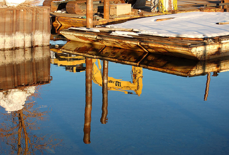 Reflection Photograph - Tractor Reflections by Heather S Huston