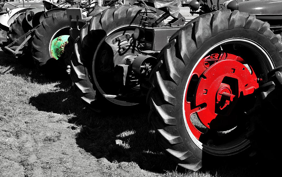 Tractor Photograph - Tractor Wheels by Luke Moore