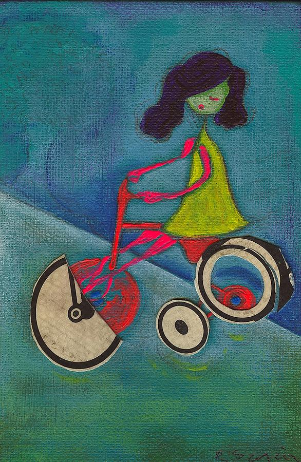 Girl Painting - Tracy Cycles by Ricky Sencion