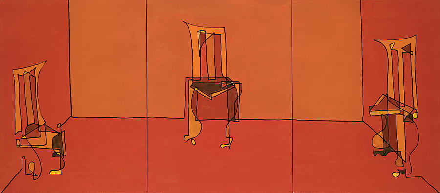 Chairs Painting - Trading Spaces by John Gibbs