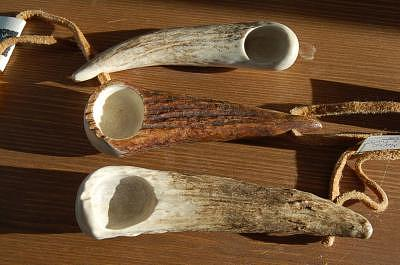 Moose Sculpture - Traditional Antler Spoons by Cristy Simmons - Willett