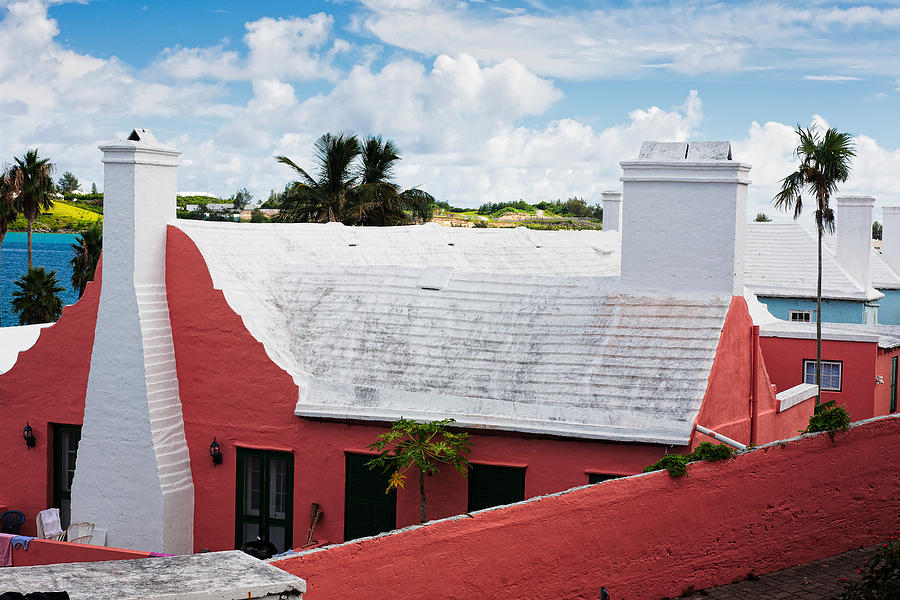Bay Photograph - Traditional Bermuda Style House by George Oze