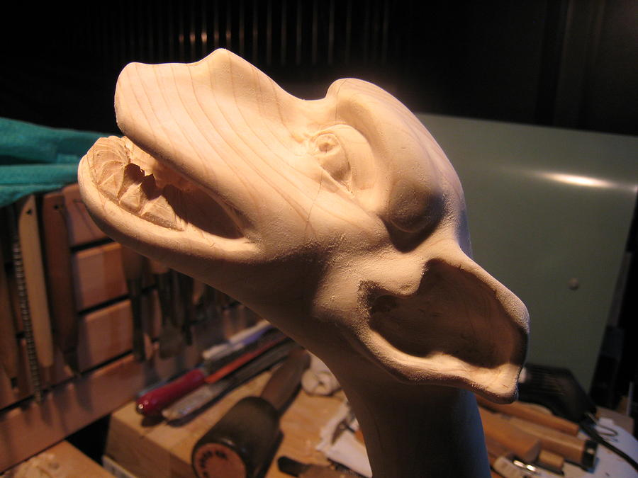 Carving Sculpture - Traditional Gargoyle by Braven Smillie