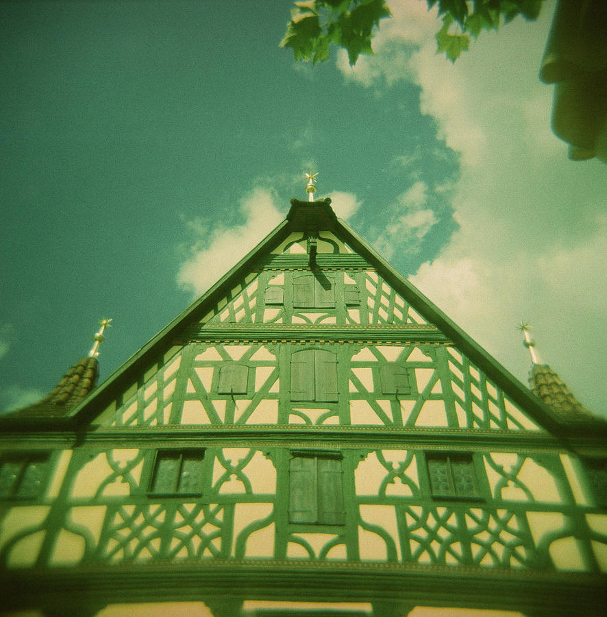 Holga Photograph - Traditional House Roth Germany Cross Process Holga Photography by Lisa Shea