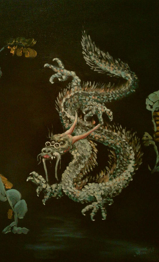 Traditional Japanese Dragon. The Kind One Painting by ...