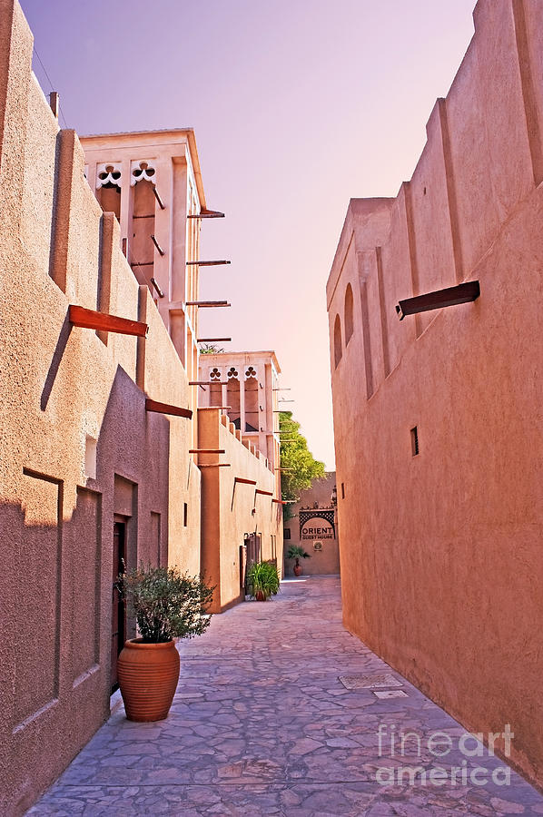 Traditional Photograph - Traditional Middle Eastern Street In Dubai by Chris Smith