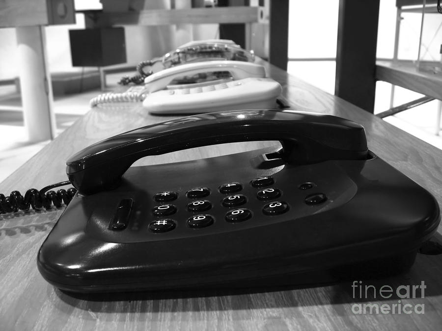 Telephones Photograph - Traditional Telephones by Yali Shi