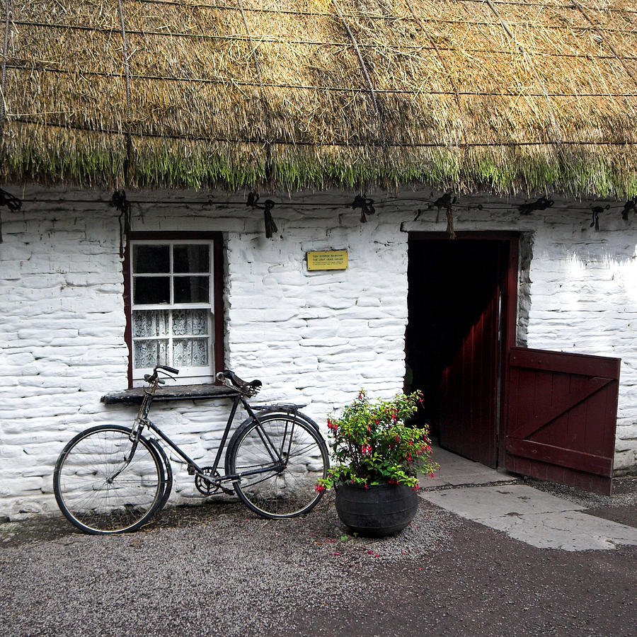 Thatch Roof Photograph - Traditional Thatch Roof Cottage Ireland by Pierre Leclerc Photography