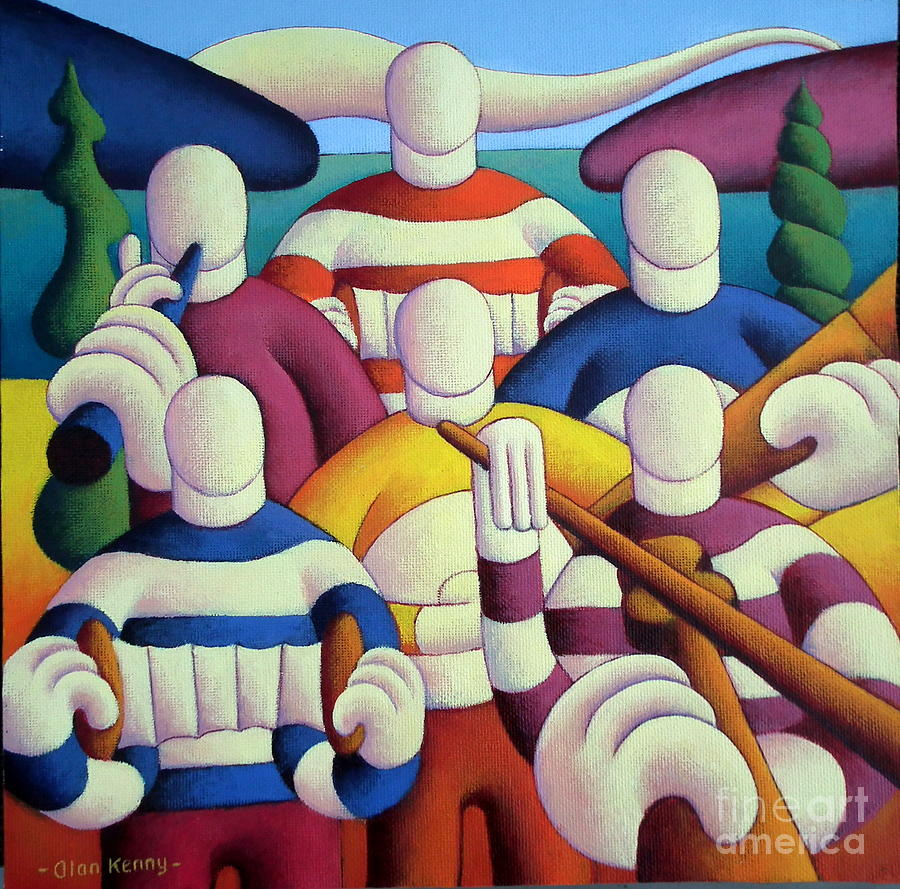 Six White Soft Musicians by Alan Kenny