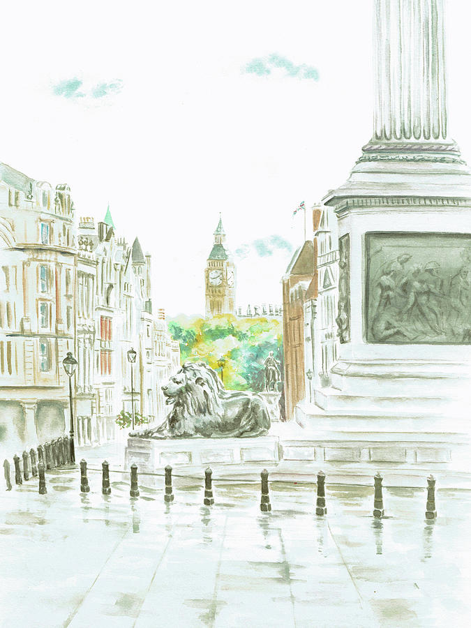 Trafalgar Square by Elizabeth Lock