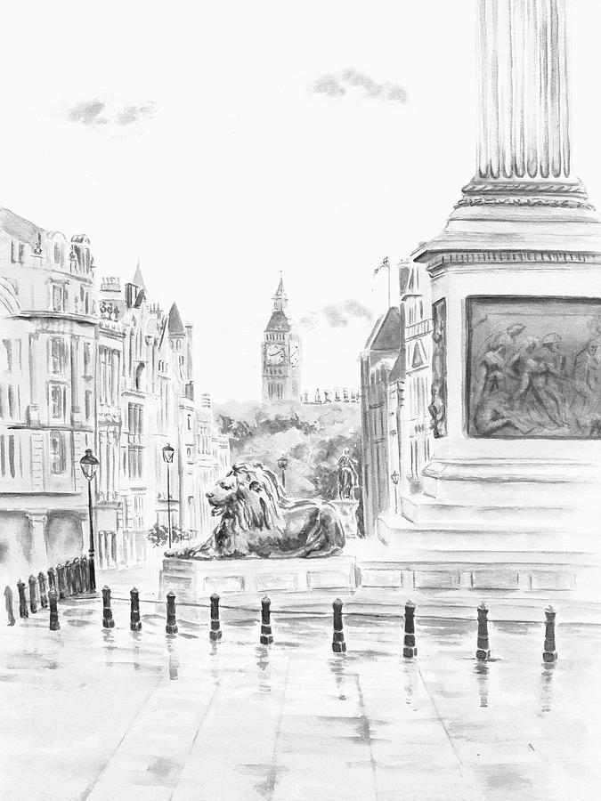 Trafalgar Square II by Elizabeth Lock