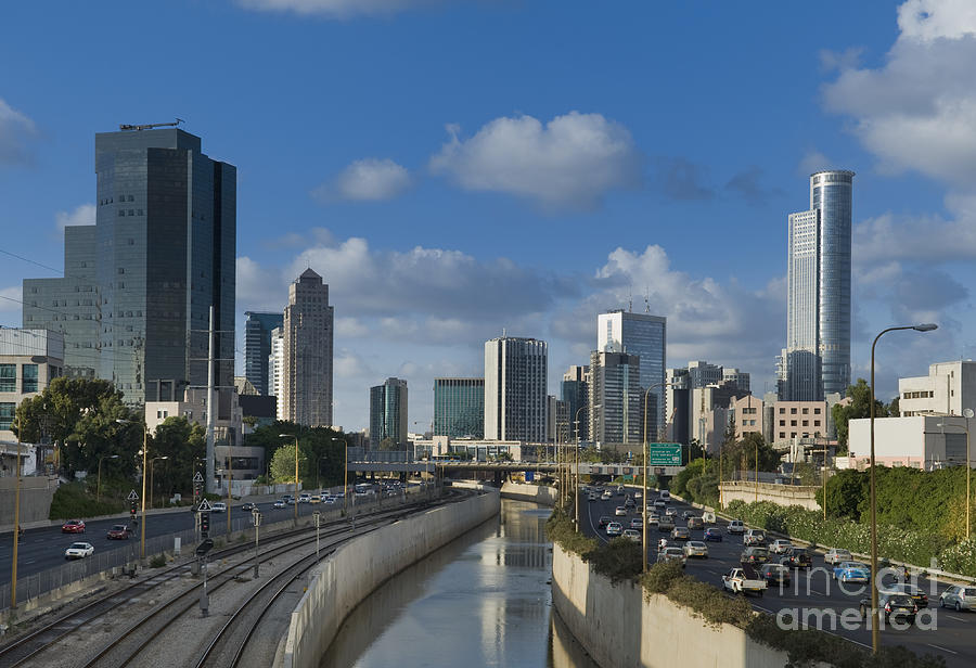 Architecture Photograph - Traffic Flowing In And Out Of Downtown Tel Aviv by Noam Armonn