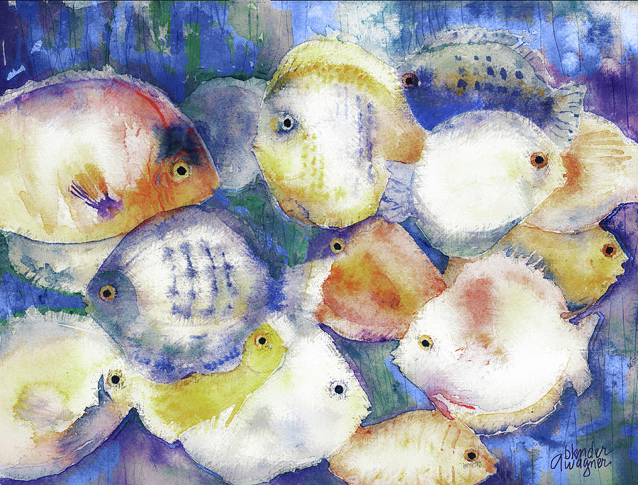 Fish Mixed Media - Traffic Jam by Arline Wagner