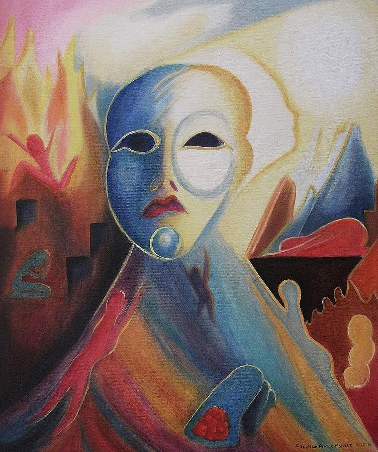 Grief Painting - Tragic Departure by Suzanne  Marie Leclair