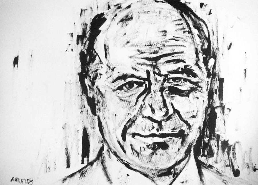 Traian Basescu - Romania Painting by Alireza Mobtaker