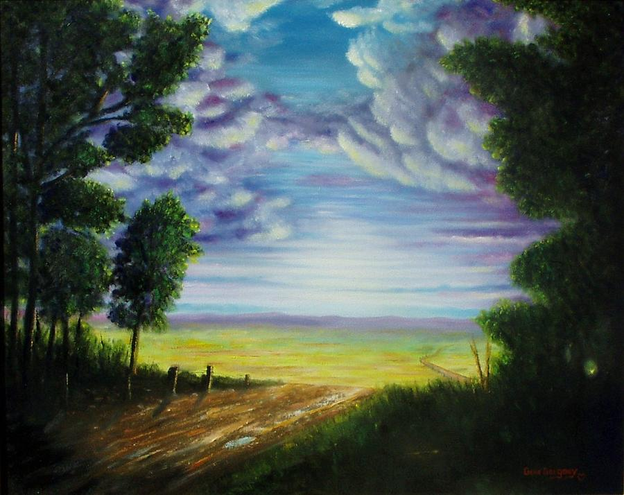Sky Painting - Trail Away  by Gene Gregory