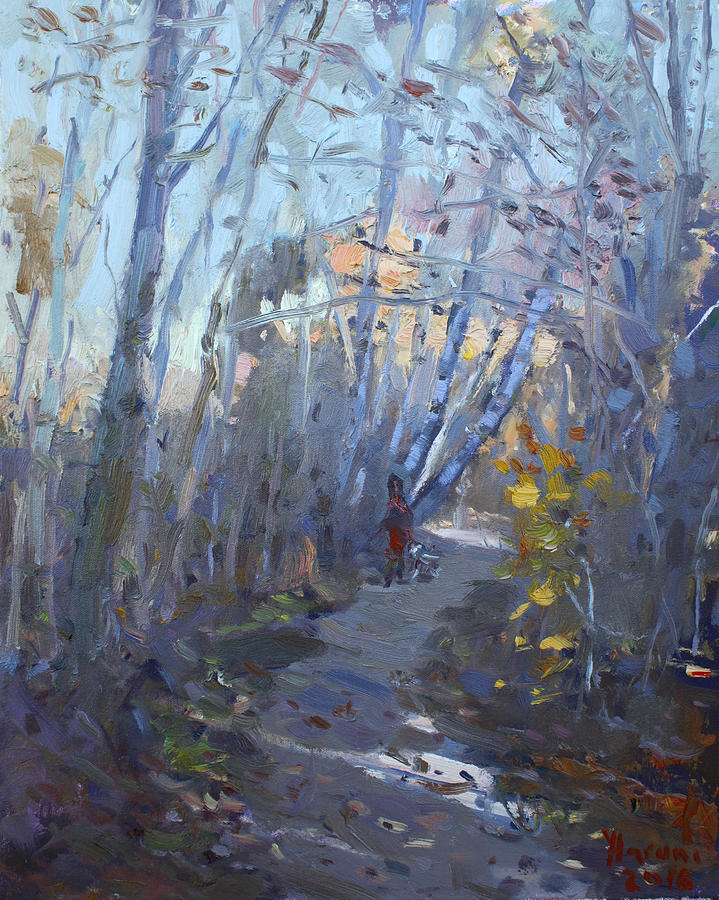Trail Painting - Trail in Silver Creek Valley by Ylli Haruni