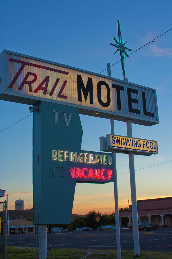 Trail Photograph - Trail Motel At Sunset by Matthew Bamberg