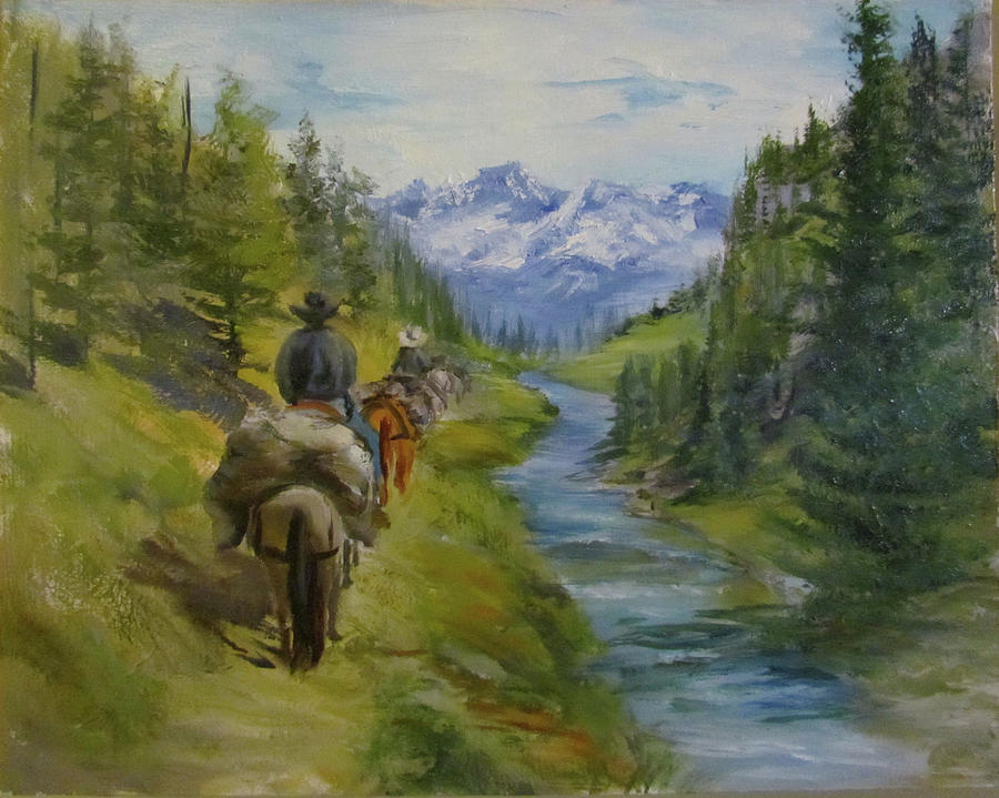 Trail Ride Painting - Trail Ride by Jill Holt