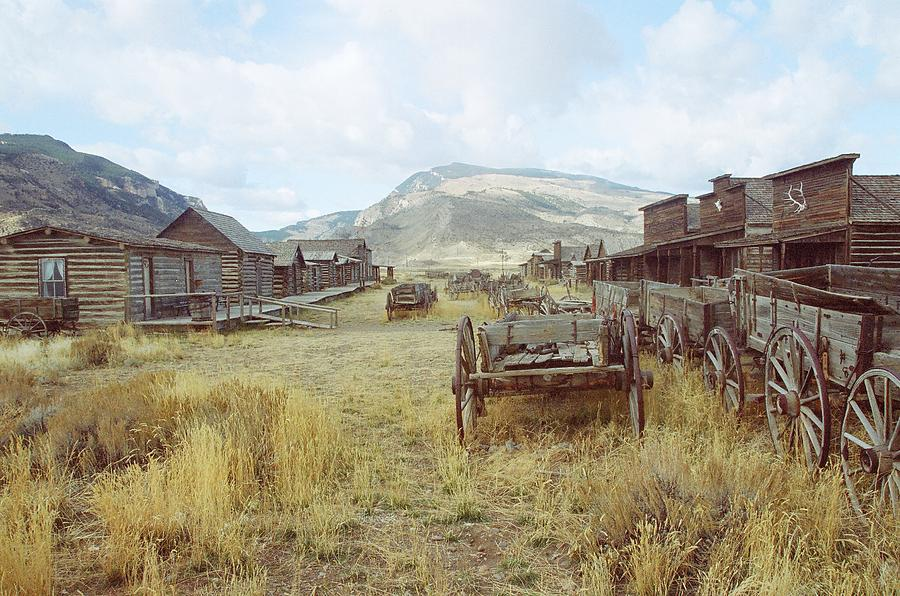 Ghost Town's Photograph - Trail Town Wyoming by Brent Easley
