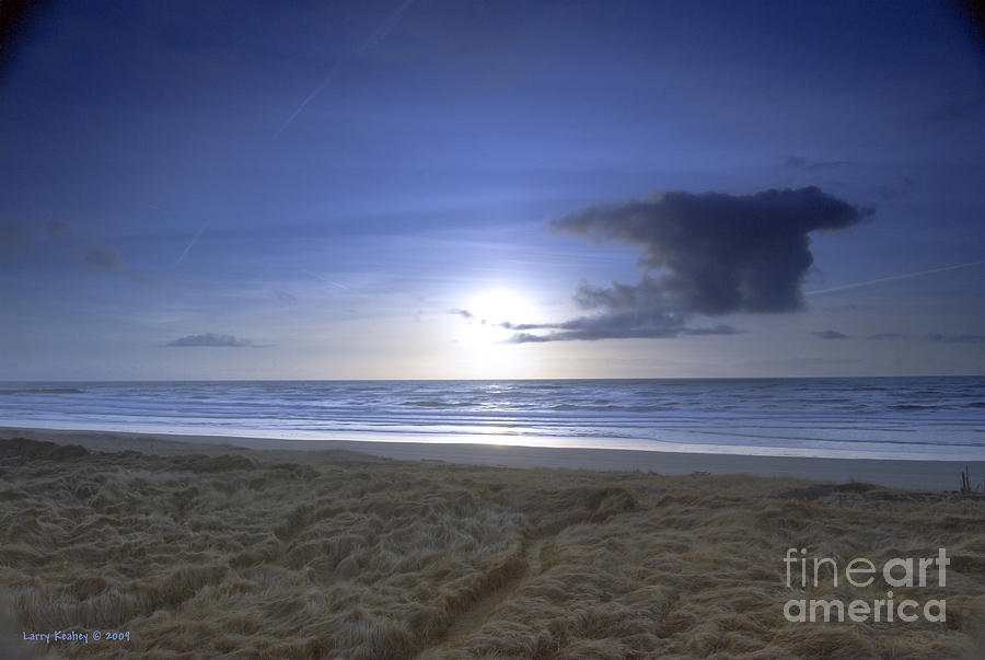 Ocean Photograph - Trails End by Larry Keahey