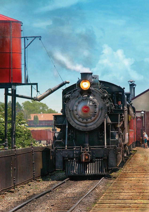 Savad Photograph - Train - Engine - Strasburg Number 9 by Mike Savad