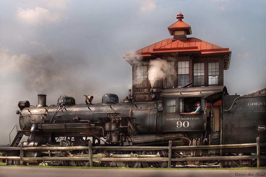Savad Photograph - Train - Engine -the Great Western 90 by Mike Savad