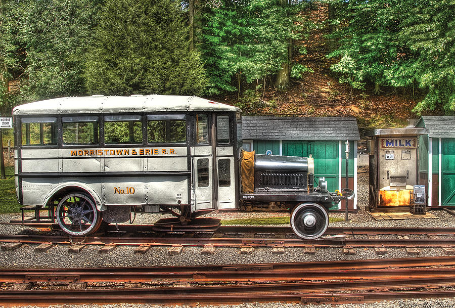 Train Photograph - Train - Car - The Rail Bus by Mike Savad