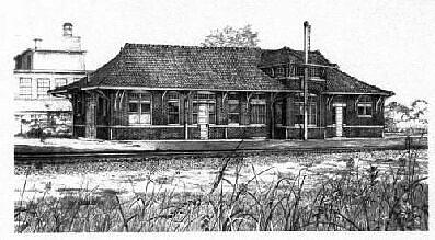 Train Depot Drawing by TBH Fine Art