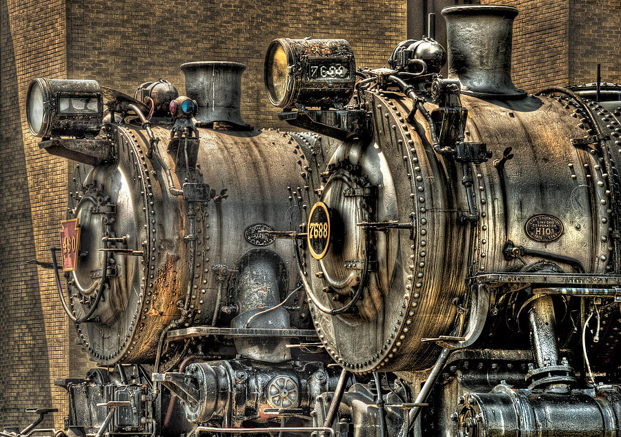 Train Photograph - Train - Engine - Brothers Forever by Mike Savad