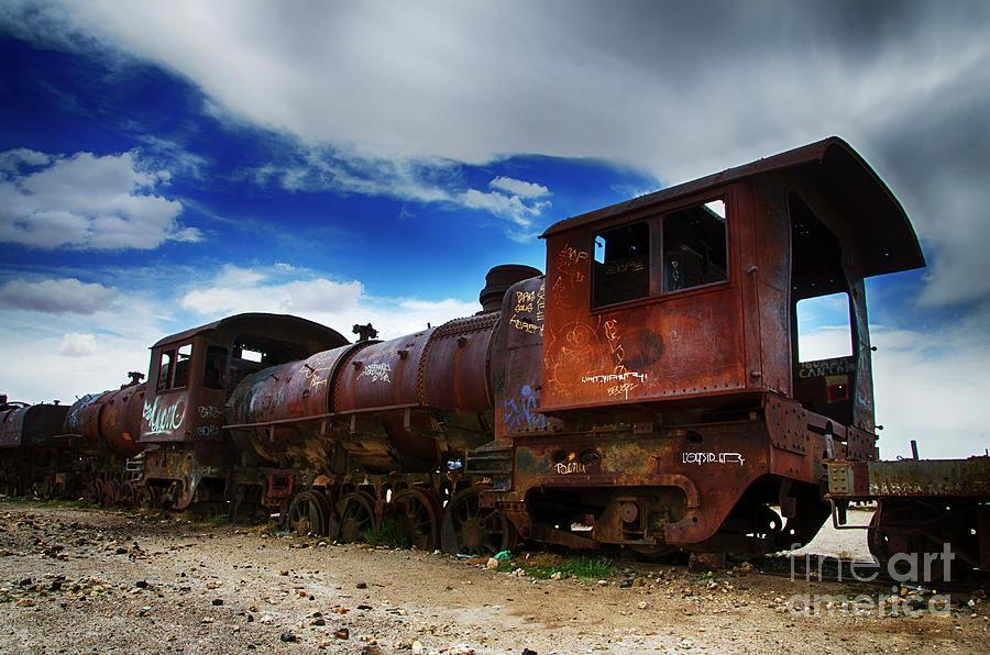 Uyuni Photograph - Train Graveyard Uyuni Bolivia 15 by Bob Christopher