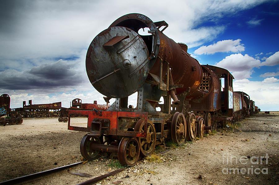 Uyuni Photograph - Train Graveyard Uyuni Bolivia 19 by Bob Christopher