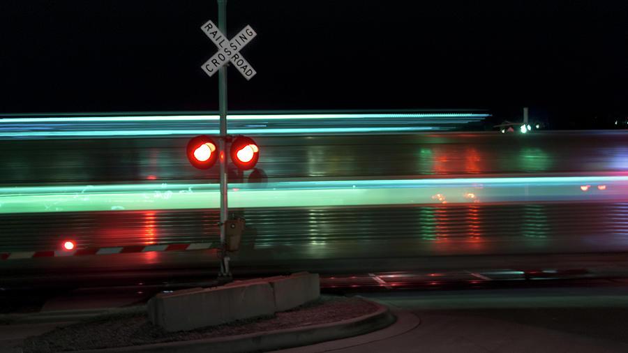 Train Photograph - Train In Motion by Steven Jones