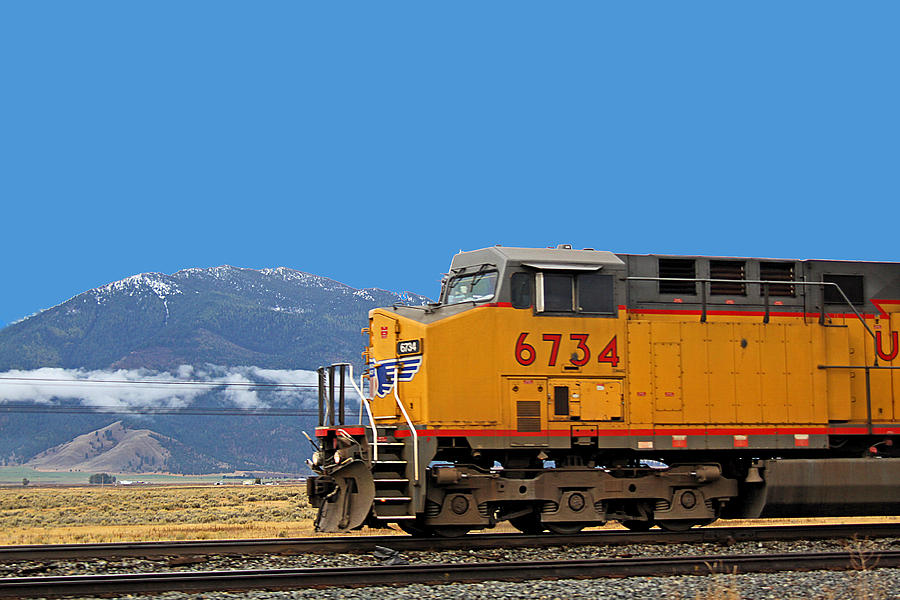 Train in Oregon Photograph by Dart and Suze Humeston