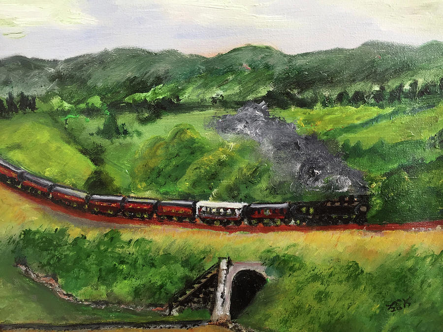 Train in the Country by Lucille Valentino