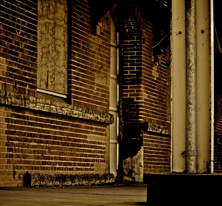 Urban Photograph - Train Left The Station by Odd Jeppesen