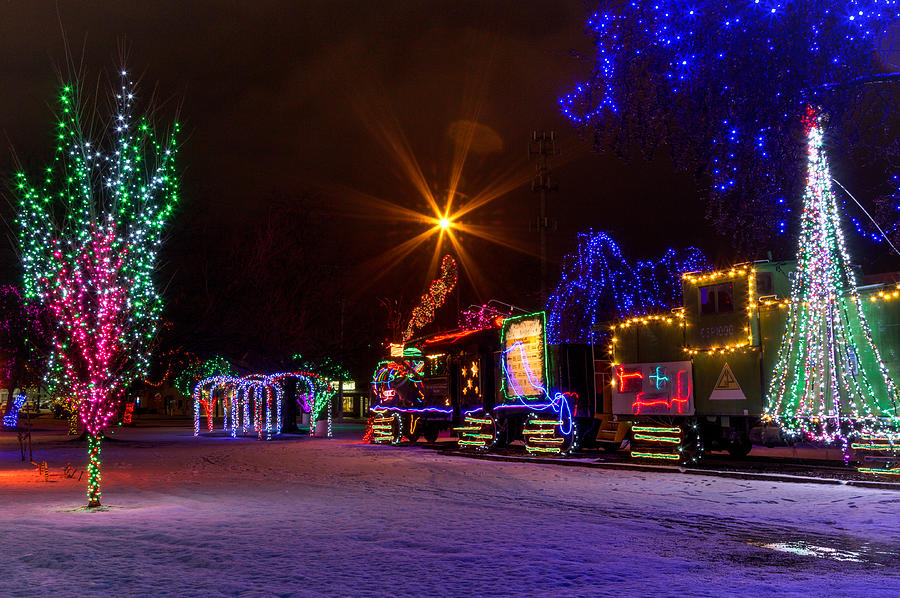 lewiston photograph train park christmas lights by brad stinson
