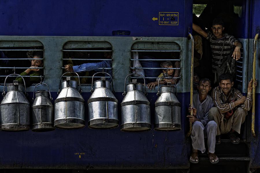 Milk Photograph - Train by Prateek Dubey