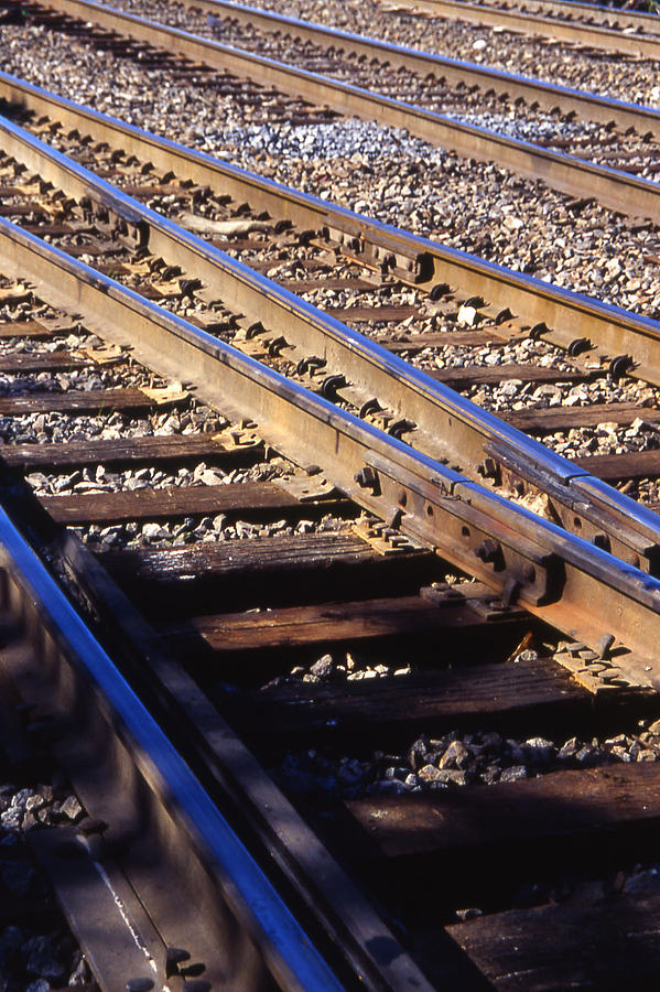 Train Photograph - Train Rails by Randy Muir