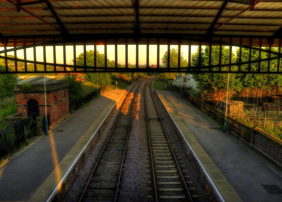 Train Station Photograph - Train Station by Svetlana Sewell