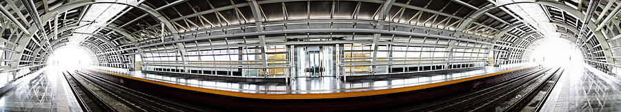 Train Photograph - Train Station View by Hector Carbuccia