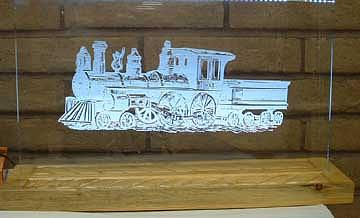 Wood Mixed Media - Train by Steven Straight