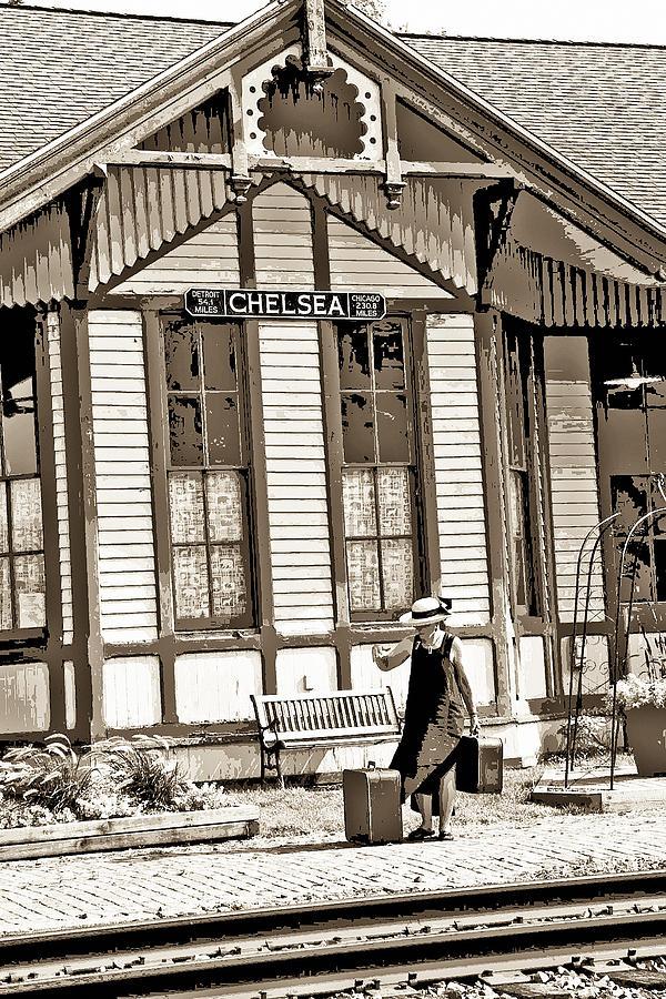 Train Photograph - Train Stop by William Furguson